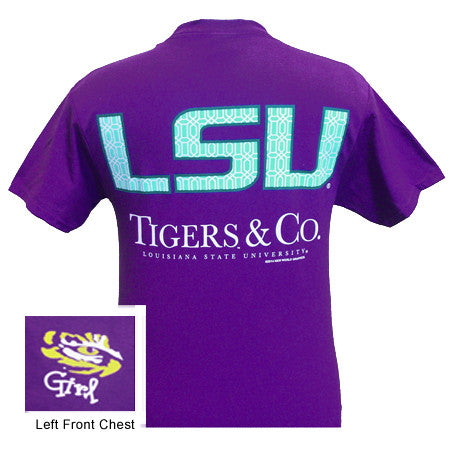 SALE Louisiana State LSU Tigers and Co Delta Girlie Bright T Shirt