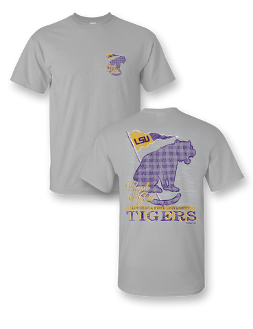 Sassy Frass University of Louisiana LSU Tradition & Pride Girlie Bright T Shirt