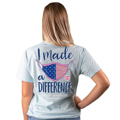 Simply Southern COVID-19 Collection Made A Difference Mask T-Shirt