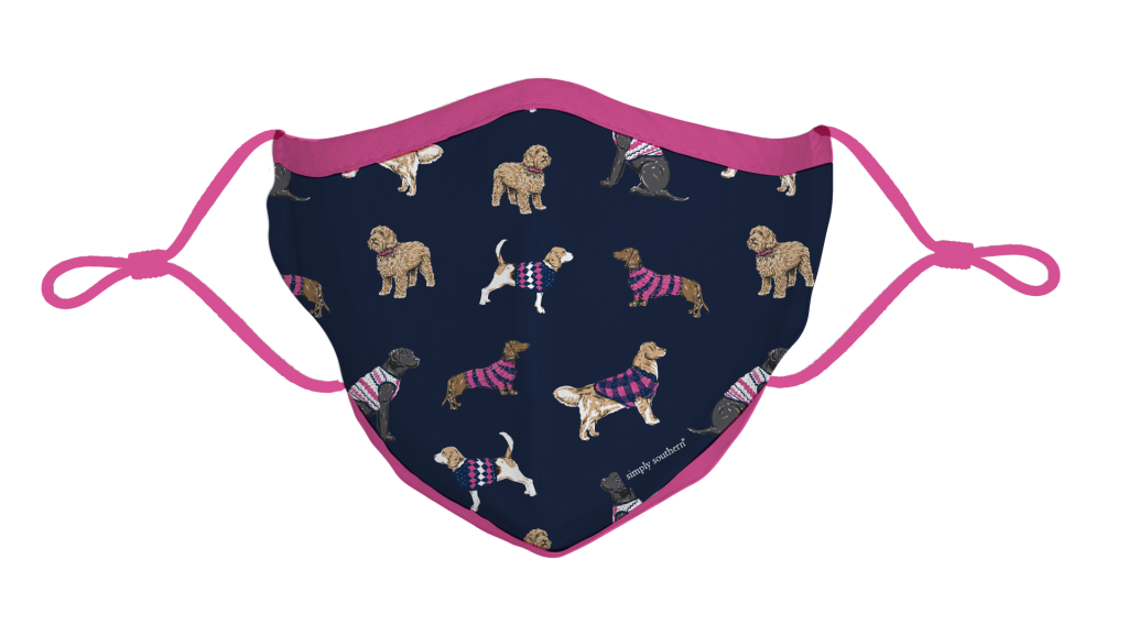 Simply Southern Preppy Dogs Protective Mask