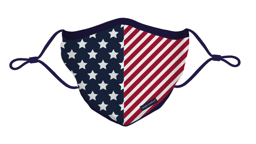 Simply Southern Preppy USA Protective Mask