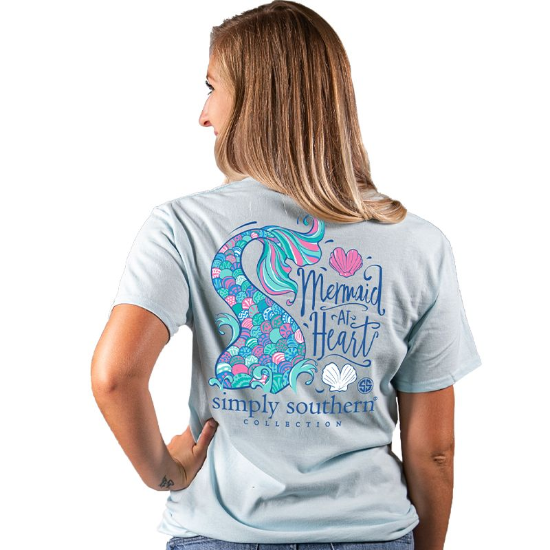 Simply Southern Preppy Mermaid At Heart T-Shirt