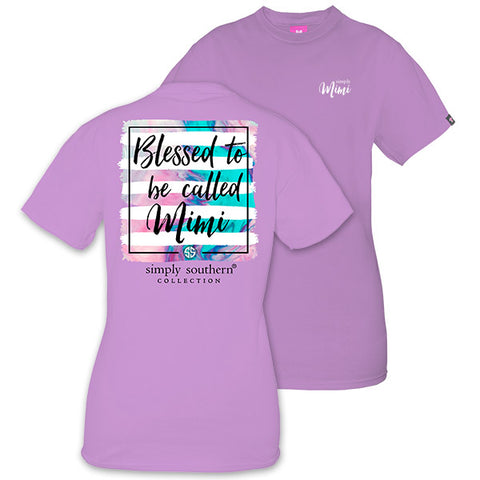 Sale Simply Southern Blessed To Be Called Mimi T-Shirt