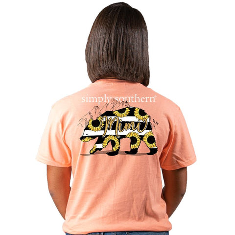 Simply Southern Preppy Mimi Bear Sunflower T-Shirt