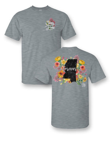SALE Sassy Frass Mississippi Forever Flowers MS State Design Girlie Bright T Shirt