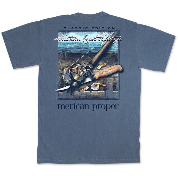 SALE Merican Proper Southern Coast Lifestyle Fishing Bait Pigment Dyed Unisex T-Shirt