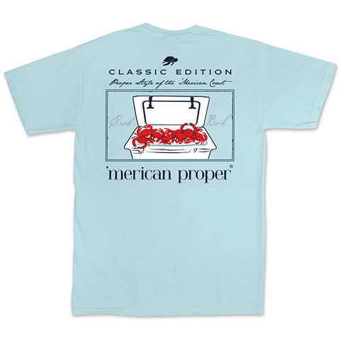 Merican Proper Southern Cooler And Crab Boil Pigment Dyed T-Shirt