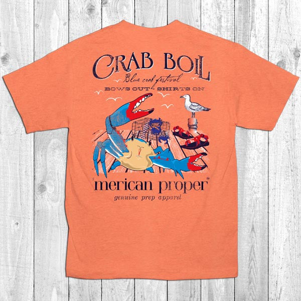 SALE Merican Proper Crab Boil Crab Festival Bows Out Shirts On Unisex T-Shirt