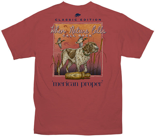 SALE Merican Proper Southern Nature Calls Duck Pigment Dyed Unisex T-Shirt