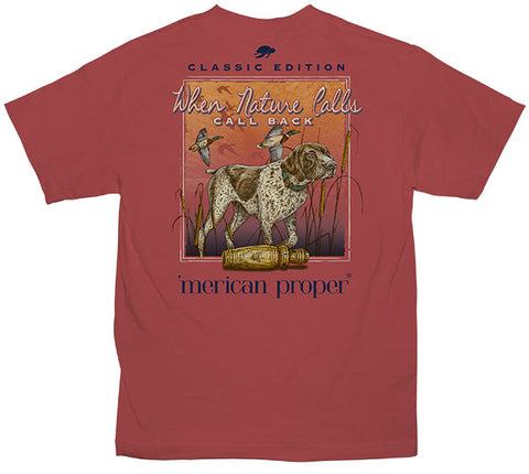Merican Proper Southern Nature Calls Duck Pigment Dyed T-Shirt