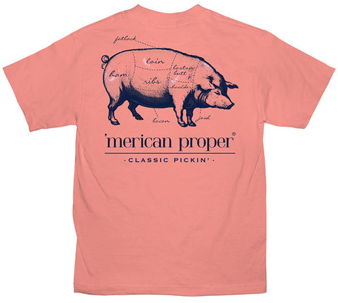 Merican Proper Southern Pickin Pig Pigment Dyed T-Shirt