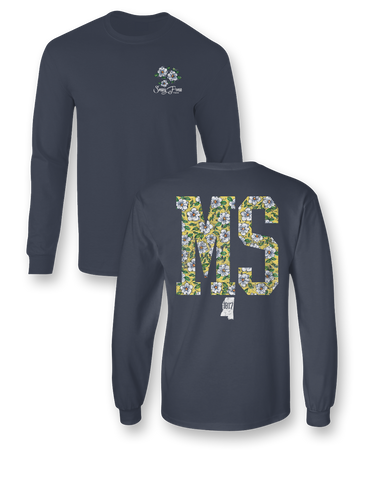 Sassy Frass Mississippi Magnolia State Comfort Colors Long Sleeve Bright Girlie T Shirt