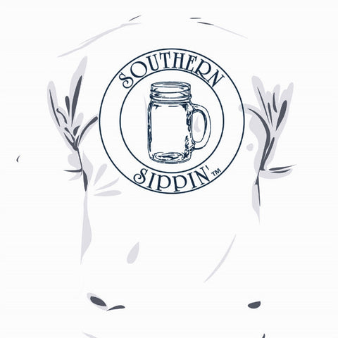 Southern Sippin Mason Jar Pigment Dyed Unisex Pocket T-Shirt - SimplyCuteTees