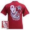 Oklahoma Boomer Sooners Anchor Bow Girlie Bright T Shirt