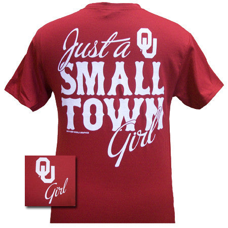 SALE Oklahoma Boomer Sooners OU Small Town Girl Girlie Bright T Shirt