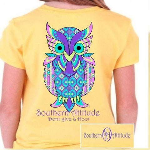 Country Life Southern Attitude Owl Don't Give A Hoot T-Shirt