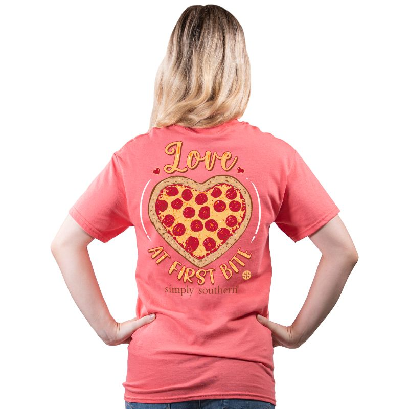 Simply Southern Love At First Bite Pizza T-Shirt