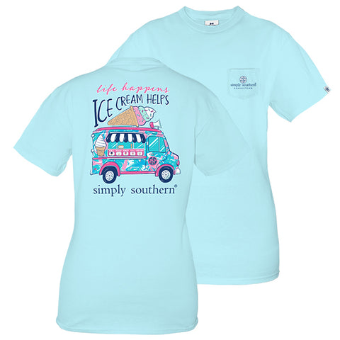 7353ff19a3 Simply Southern Preppy Life Ice Cream Helps T-Shirt