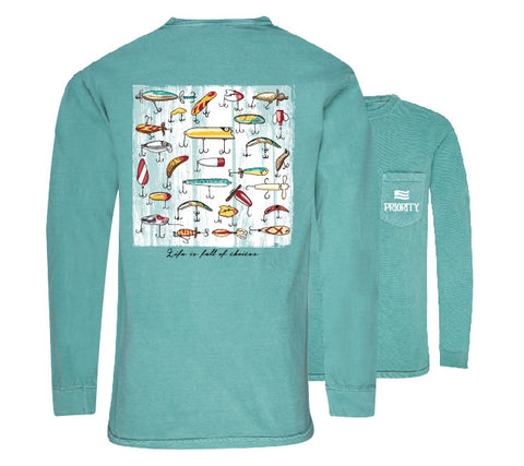 Southern Couture Priority Lure Choices Fishing Pocket Unisex Long Sleeve T-Shirt - SimplyCuteTees