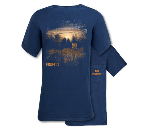 Southern Couture Priority Deer Stand Pocket Unisex T-Shirt - SimplyCuteTees
