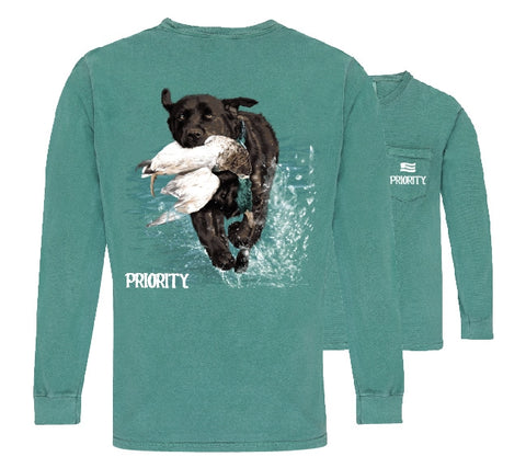 Southern Couture Priority Lab Duck Pocket Unisex Long Sleeve T-Shirt - SimplyCuteTees