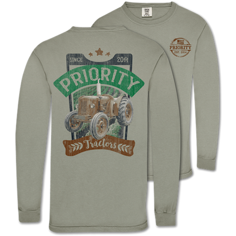 Couture Priority Tractors Comfort Colors Unisex Long Sleeve T-Shirt