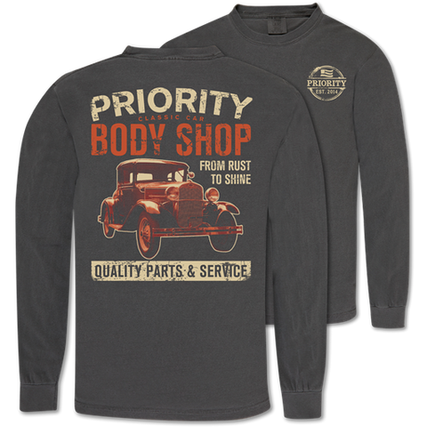 Couture Priority Body Shop Comfort Colors Unisex Long Sleeve T-Shirt