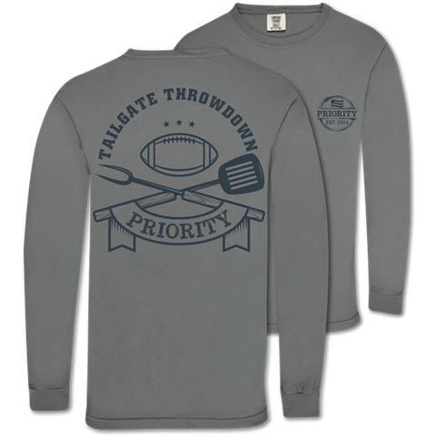 Couture Priority Tailgate Football Comfort Colors Unisex Long Sleeve T-Shirt