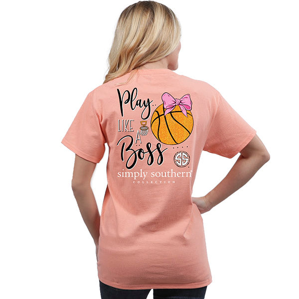 f3753dea1 Simply Southern Preppy Play Like A Boss Basketball T-Shirt ...