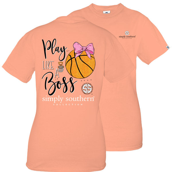 f21799710 Simply Southern Preppy Play Like A Boss Basketball T-Shirt | SimplyCuteTees