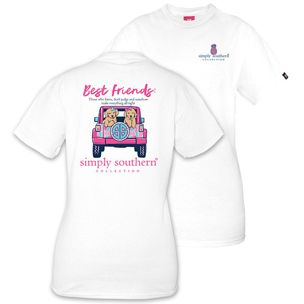 9737dadb044 Simply Southern Preppy Best Friends Puppies Jeep T-Shirt ...
