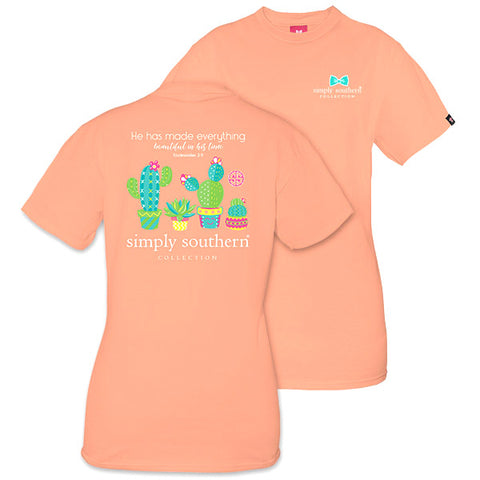 Simply Southern Preppy Cactus Peachy T-Shirt