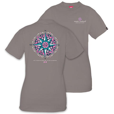 Simply Southern Preppy Heart Be Your Compass T-Shirt
