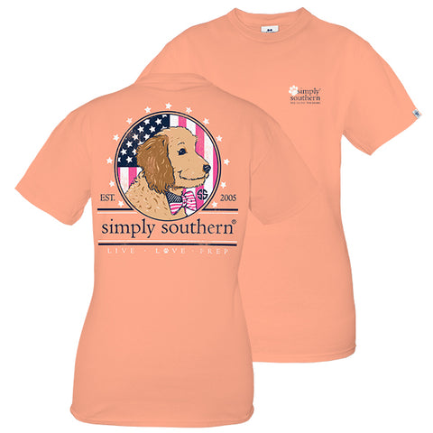 Simply Southern Preppy Doodle USA Puppy T-Shirt