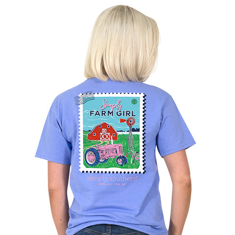 Simply Southern Preppy Farm Girl Stamp T-Shirt