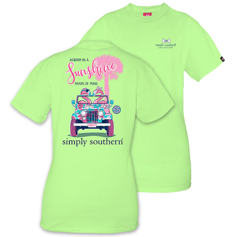 Simply Southern Preppy Flamingo Jeep T-Shirt