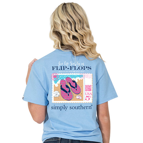 Simply Southern Preppy Flip Flops Stamp T-Shirt