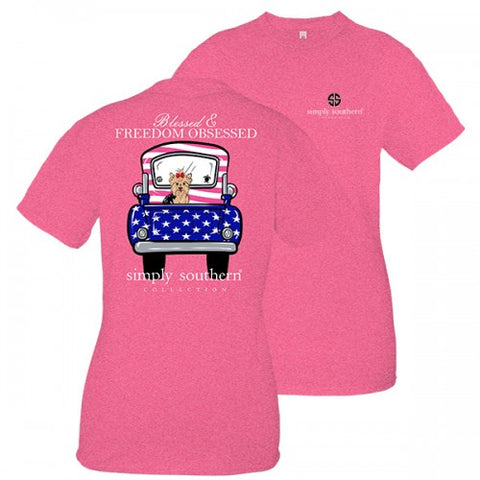 Simply Southern Preppy Blessed & Freedom Obsessed T-Shirt