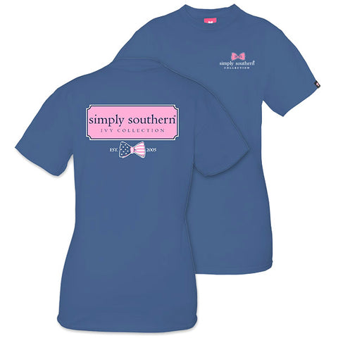 Sale Simply Southern Preppy Ivy Collection USA Logo Bow Unisex T-Shirt
