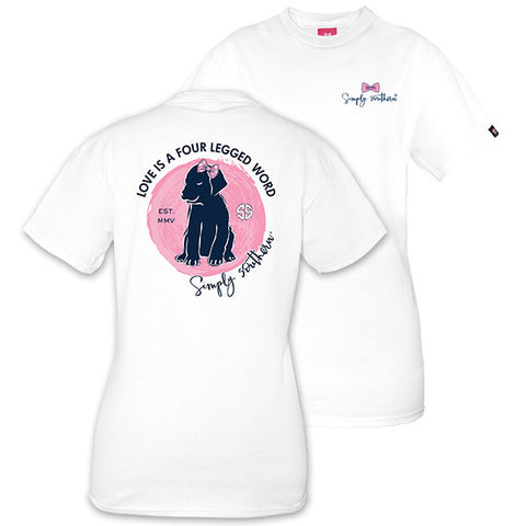 Simply Southern Preppy Love Is A 4 Legged Word Dog T-Shirt