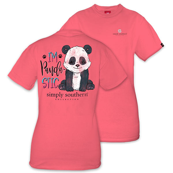 4988a841 Simply Southern Preppy I'm Pandastic T-Shirt | SimplyCuteTees