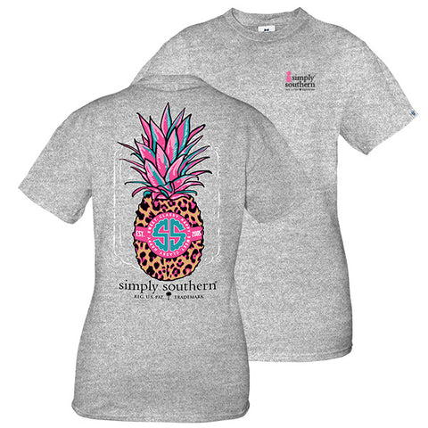 Simply Southern Preppy Leopard Pineapple T-Shirt