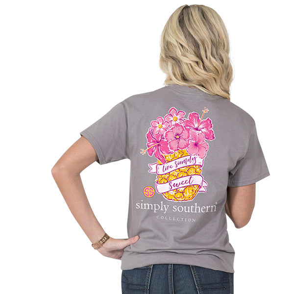 b874d743638e9 Simply Southern Preppy Rose Sweet Pineapple T-Shirt | SimplyCuteTees