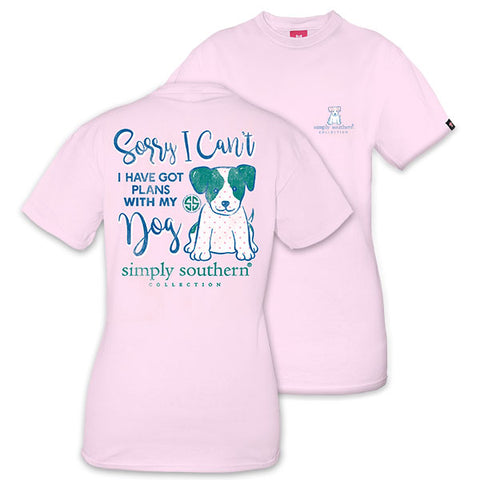 a1760eee902b7 Simply Southern Preppy Got Plans With My Dog T-Shirt