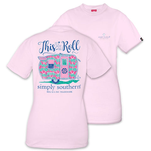 6380b3278cf8db Simply Southern Preppy How We Roll Camper T-Shirt