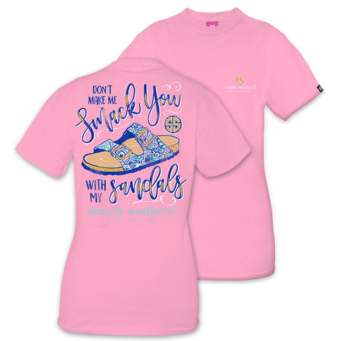 Simply Southern Preppy Smack You With My Sandals T-Shirt