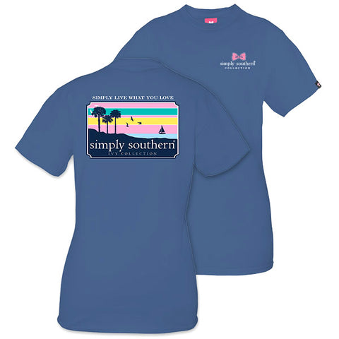 Simply Southern Preppy Sunset Ivy Collection Unisex T-Shirt