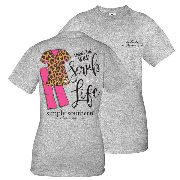4a618afb841 Simply Southern Preppy Wild Scrub Life T-Shirt | SimplyCuteTees
