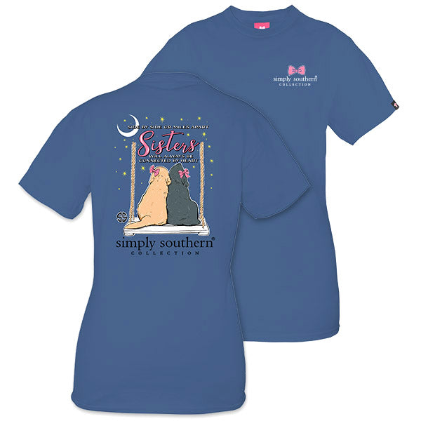 5faf9fdc231f Simply Southern Preppy Sisters Dogs Moonrise T-Shirt