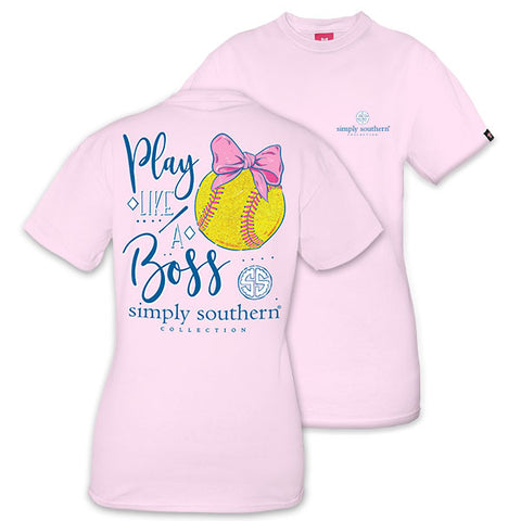 Simply Southern Preppy Play Like A Boss Softball T-Shirt